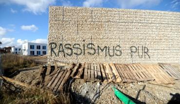 Flüchtlingsmauer in München. Copyright: Stephan Rumpf